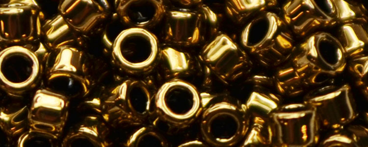 AIKO Precision Cylinder Beads Red Bronze Metallic #222